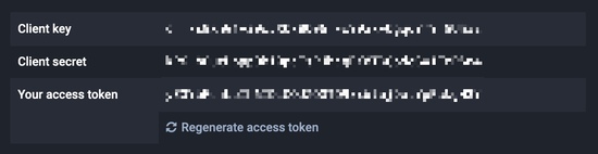 Mastodon OAuth keys and API token