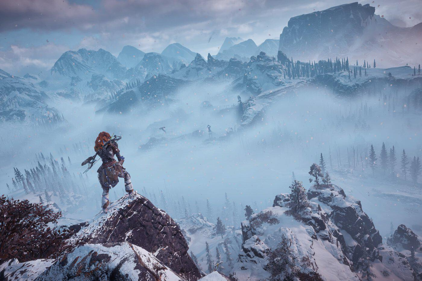 Horizon Zero Dawn -- day in the Frozen Wilds